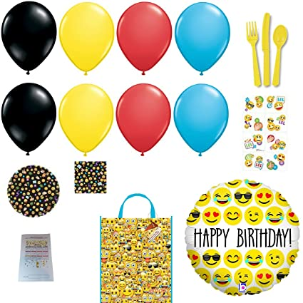 Image Unavailable Not Available For Color LOL Emoji Happy Birthday Party Supplies And Balloons Bundle