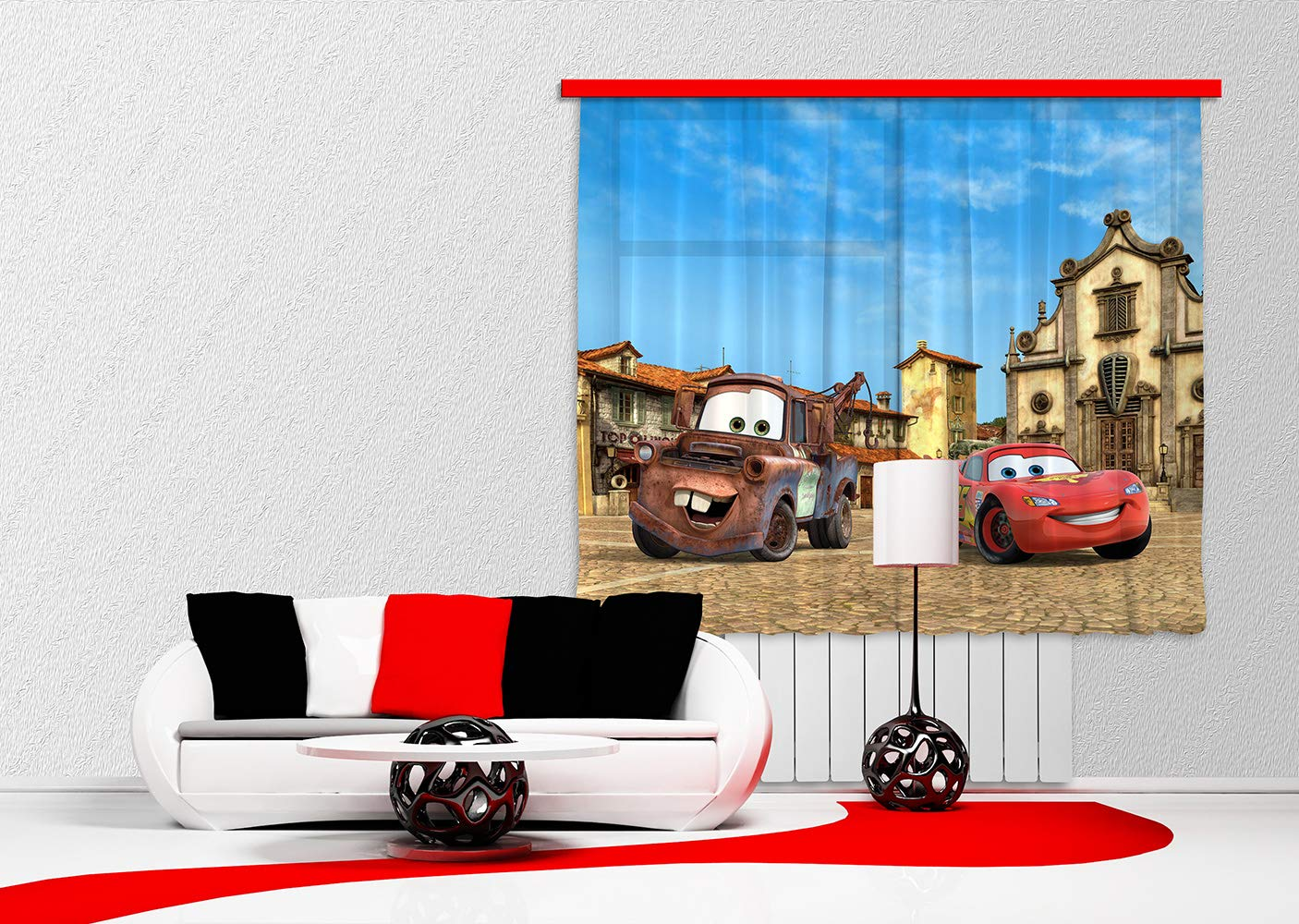 AG Design FCS xl 4315 dise/ño de CARS Cortinas para habitaci/ón infantil