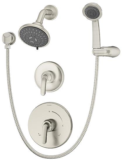 Symmons - Kit embellecedor de ducha Elm 5505-TRM con alcachofa multifunción