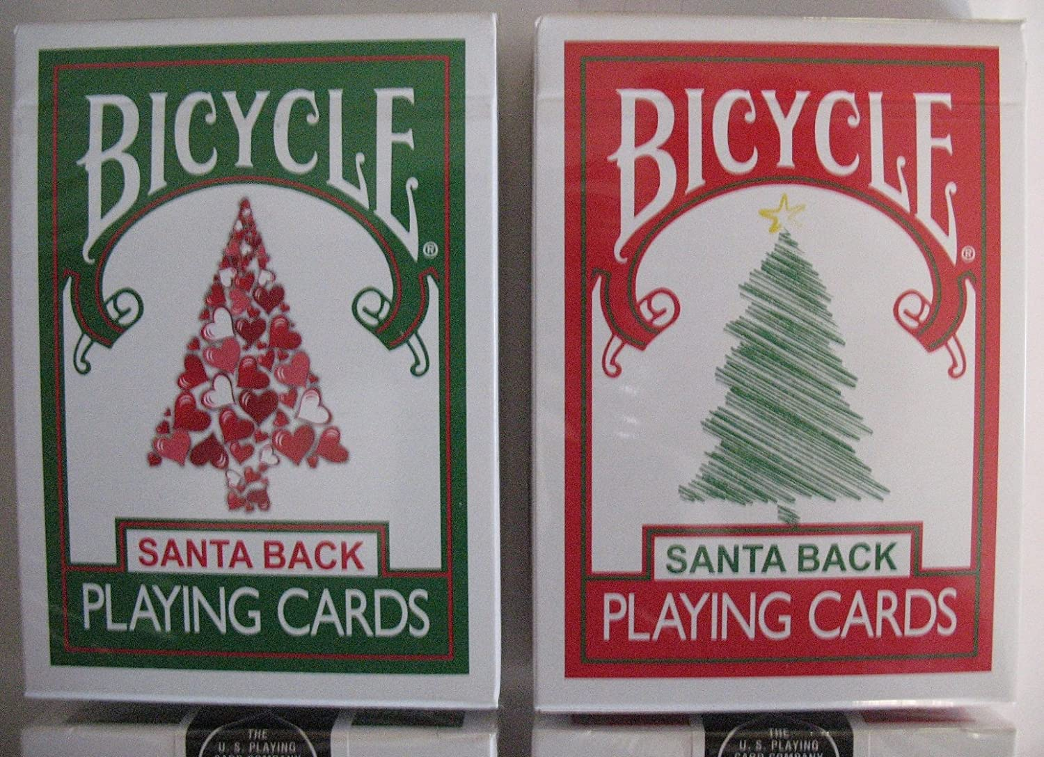 Amazon.com: Rare 2 Deck Bicycle Santa Maiden Back Playing Cards 1 ...