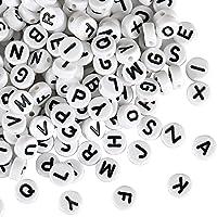 Naler 1200 Abalorios Letras Redondas Cuentas Alfabeto