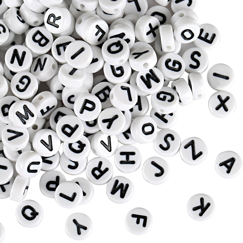 Naler 1200 PZ Perle di 6 mm circa alfabeto perline per schmucker fai da te
