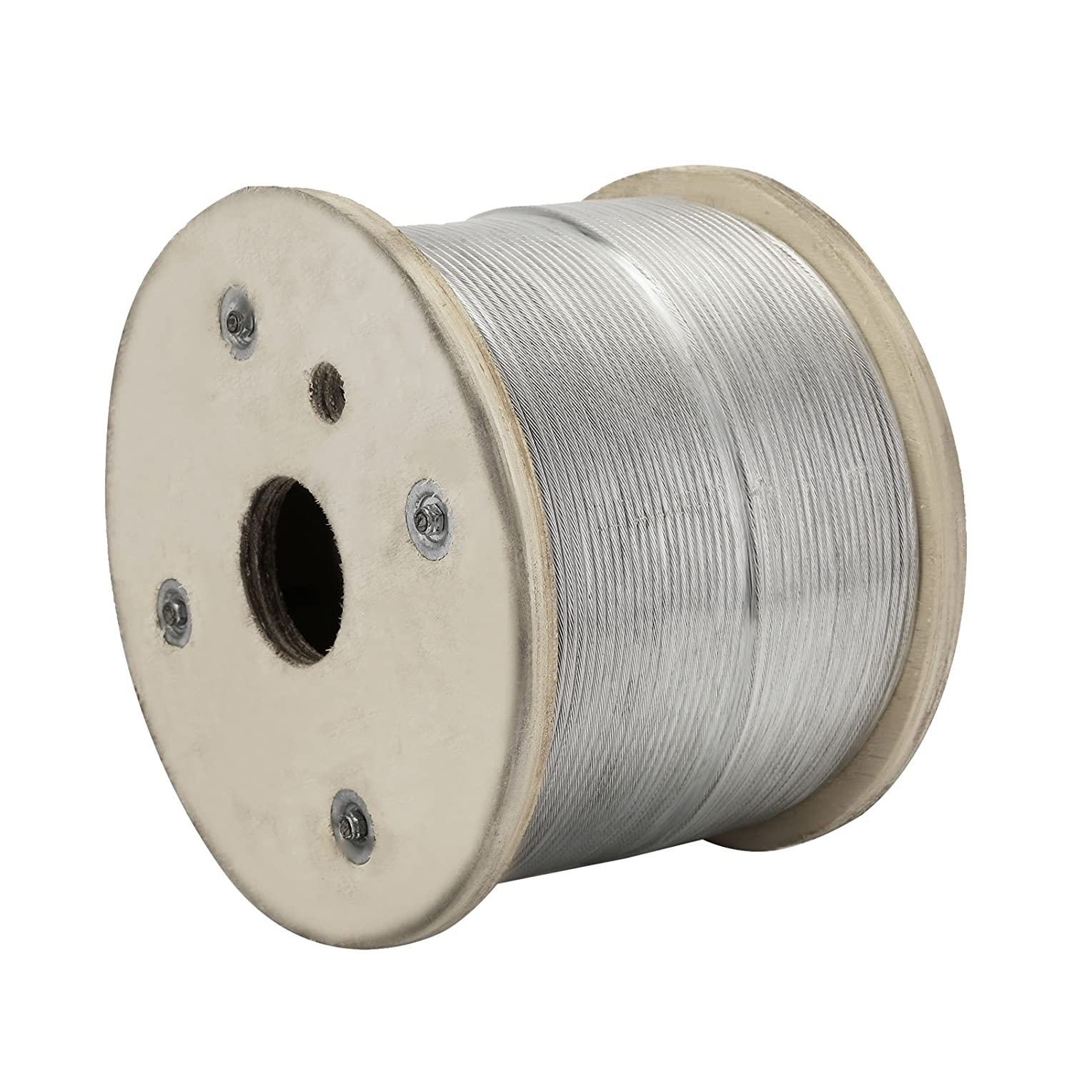LOVSHARE 1//8 500FT Wire Rope T316 Stainless Steel Cable Railing 7X7 Strand Core Cable Reel 1433 lb Breaking Strength