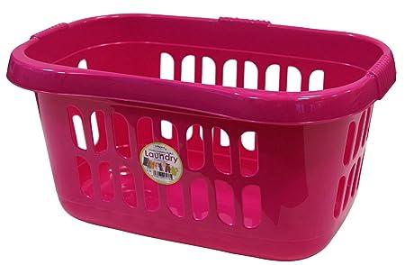 Pink Plastic Laundry Basket New Wham Hipster Laundry Basket Hot Pink Amazoncouk Kitchen Home