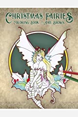 Christmas Fairies Coloring Book Paperback