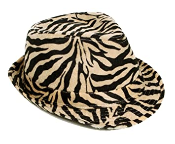 367583701af5a Image Unavailable. Image not available for. Color  Simplicity Zebra Stripes  Tweed Furry Trilby Gothic Fedora Hat ...