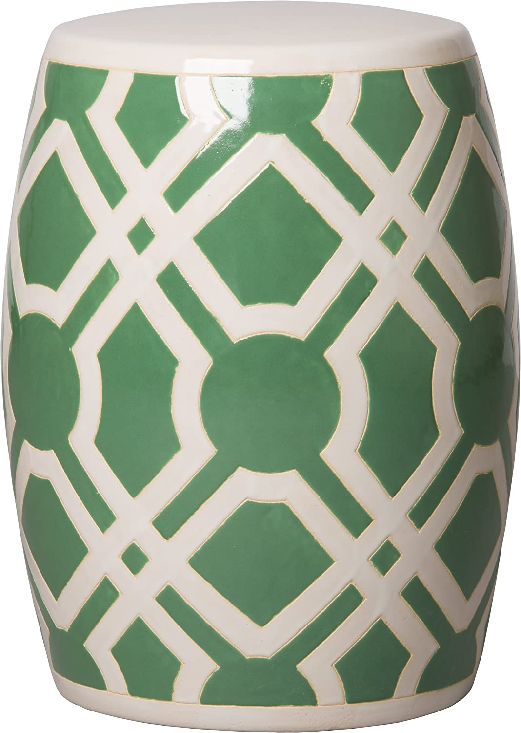 Emissary Home & Garden Labyrinth Stool Meadow Green