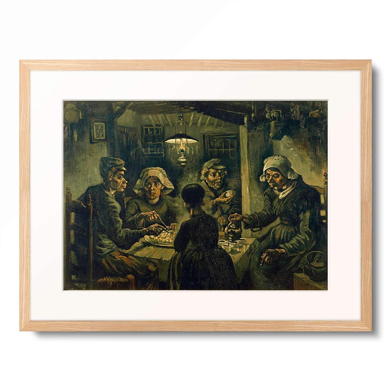 フィンセントファンゴッホ Vincent Willem van Gogh 「The Potato Eaters」 額装アート作品 B07PHJNN1P 01.木製額 12mm(木地) L(額内寸 509mm×394mm) L(額内寸 509mm×394mm)|01.木製額 12mm(木地)