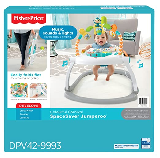 de076580aaef Amazon.com   Fisher-Price Colourful Carnival SpaceSaver Jumperoo   Baby
