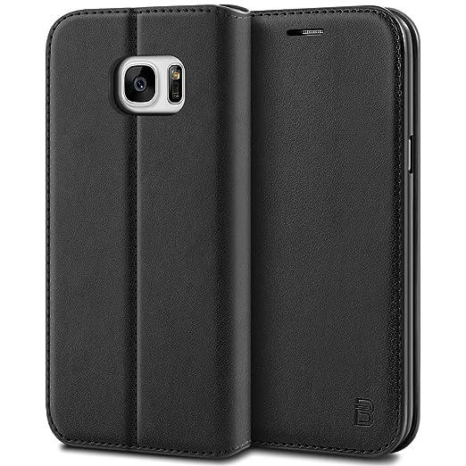 3 opinioni per Custodia Samsung Galaxy S7, BEZ® Cover Protettiva Portafoglio in Pelle Con Porta
