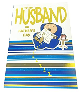 Happy fathers day greeting card envelope seal to my husband men happy fathers day greeting card envelope seal to my husband men dad wife funny m4hsunfo
