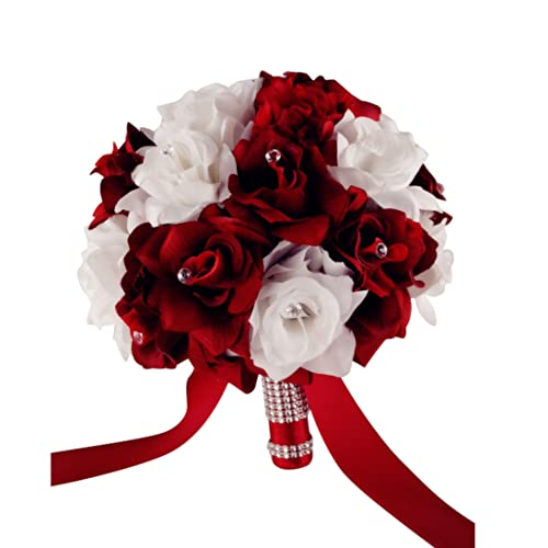 red and white wedding bouquets amazon com