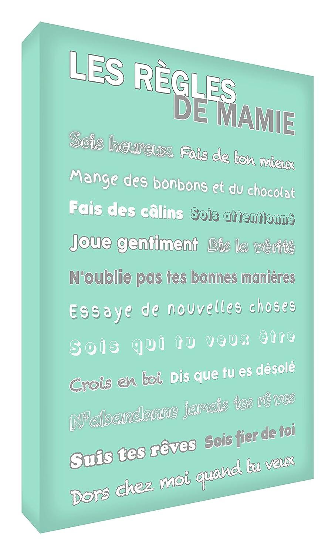 Feel Good Art les Conseils de Mamie Toile sur Cadre Bleu 30 X 20 cm GR128-07FR