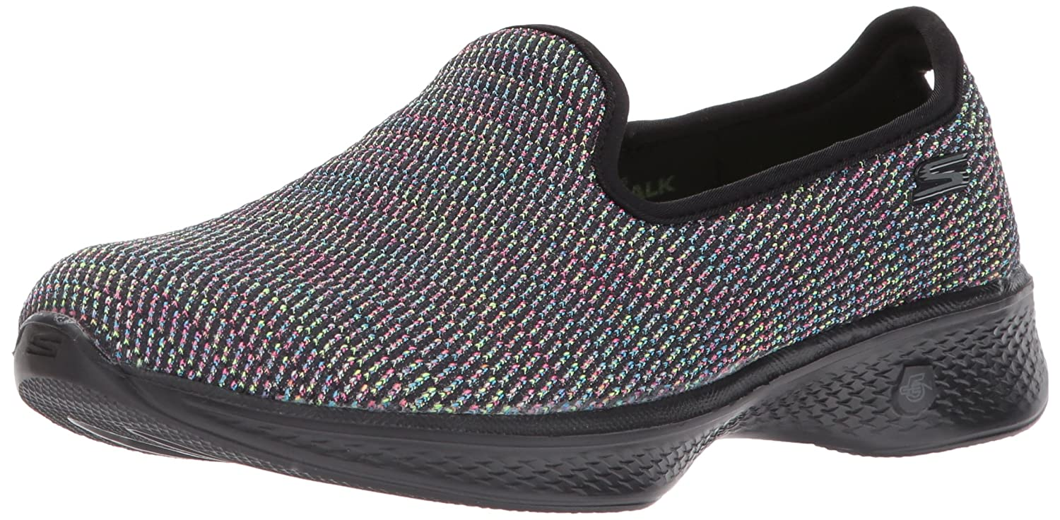 Skechers Go Walk 4-Attraction, Entrenadores para Mujer 38 EU|Negro (Black/Multi)