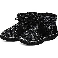 KuaiLu Zapatillas-de-Casa-para-Mujer, Chenille Tejer Zapatillas Casa Mujer Cerradas Invierno, Cómoda Altas Densidad…