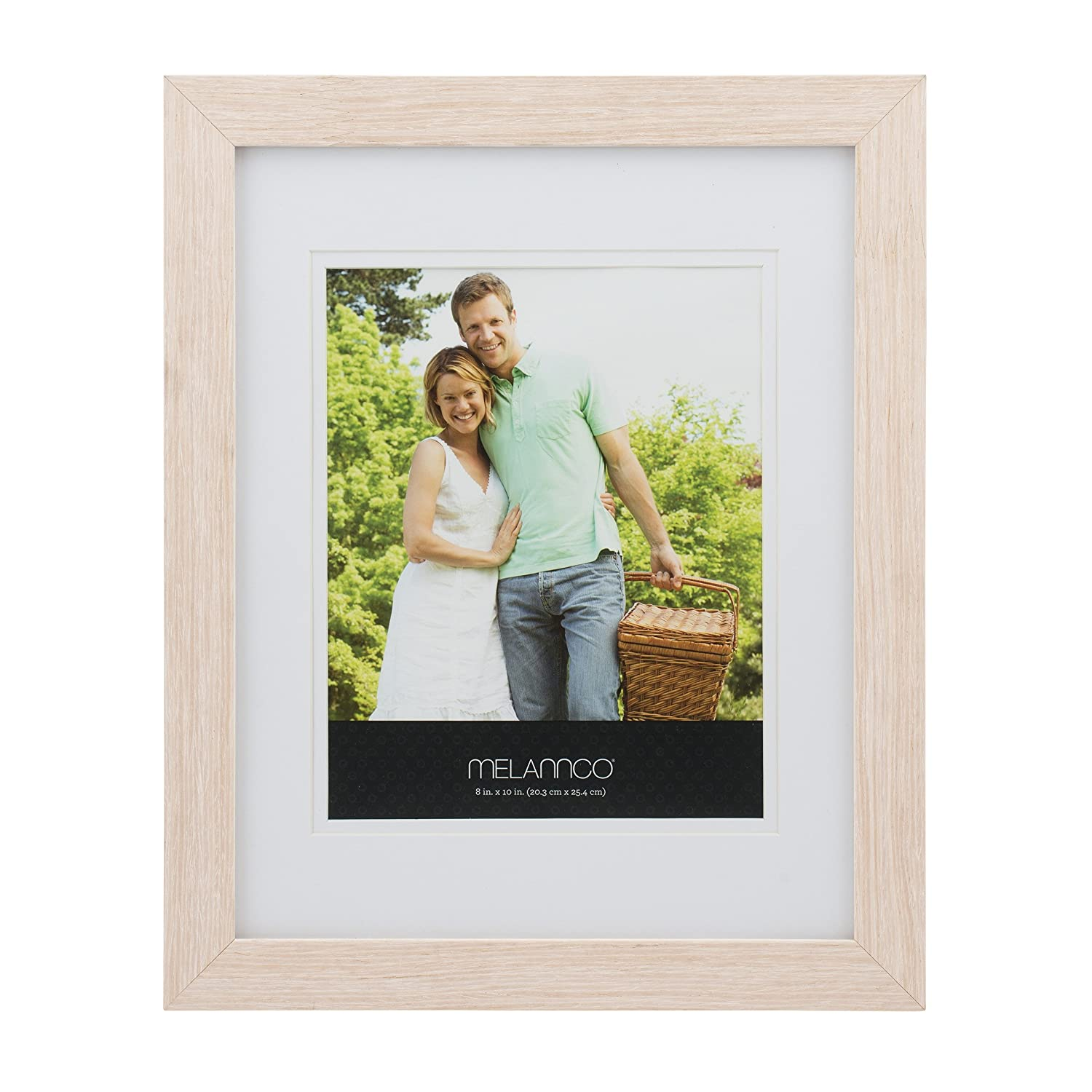 MELANNCO 2-Opening Natural Wood Frame 10-Inch-by-13-Inch