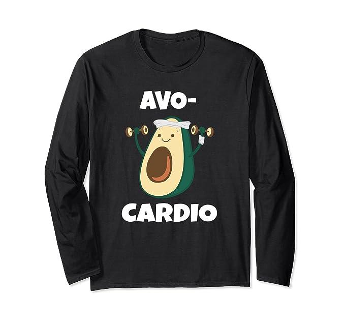 b6a59c48 Amazon.com: Avo Cardio Funny Avacado Guacamole Workout Premium Shirt:  Clothing