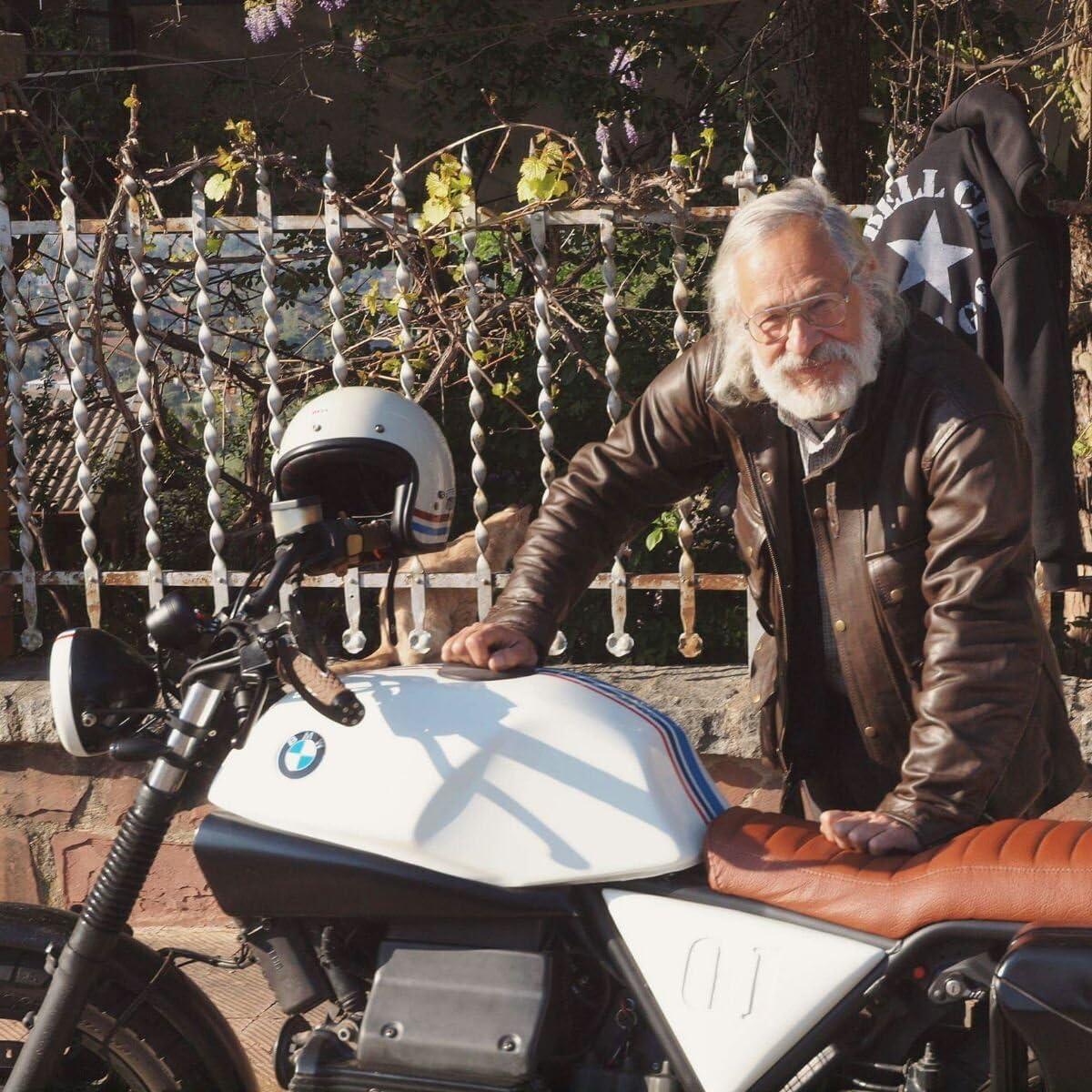Classic Vintage Bikers Gewachstes Leder Schwarz Used Look Motorradjacke