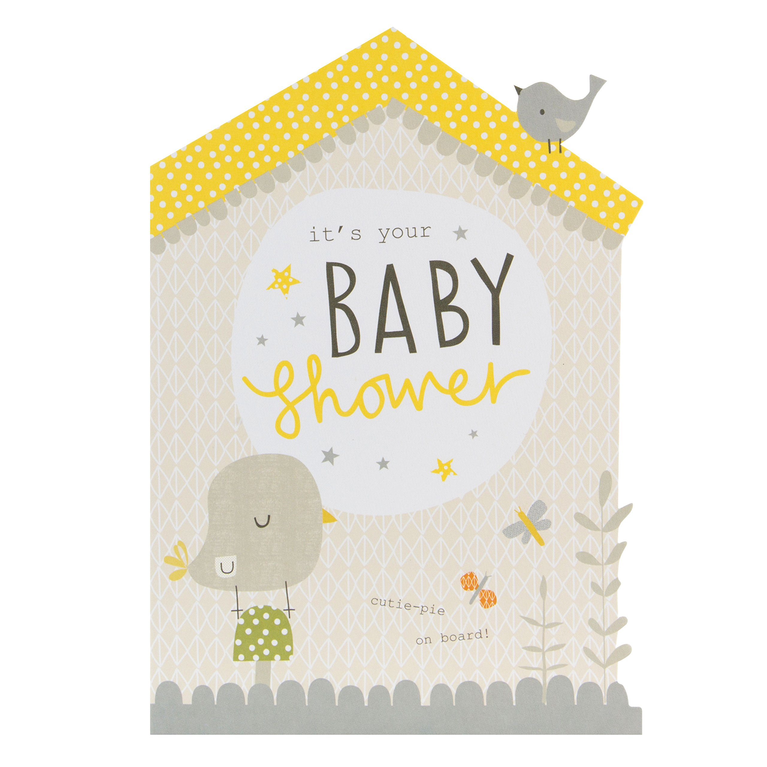 hallmark baby shower card cutie pie on board