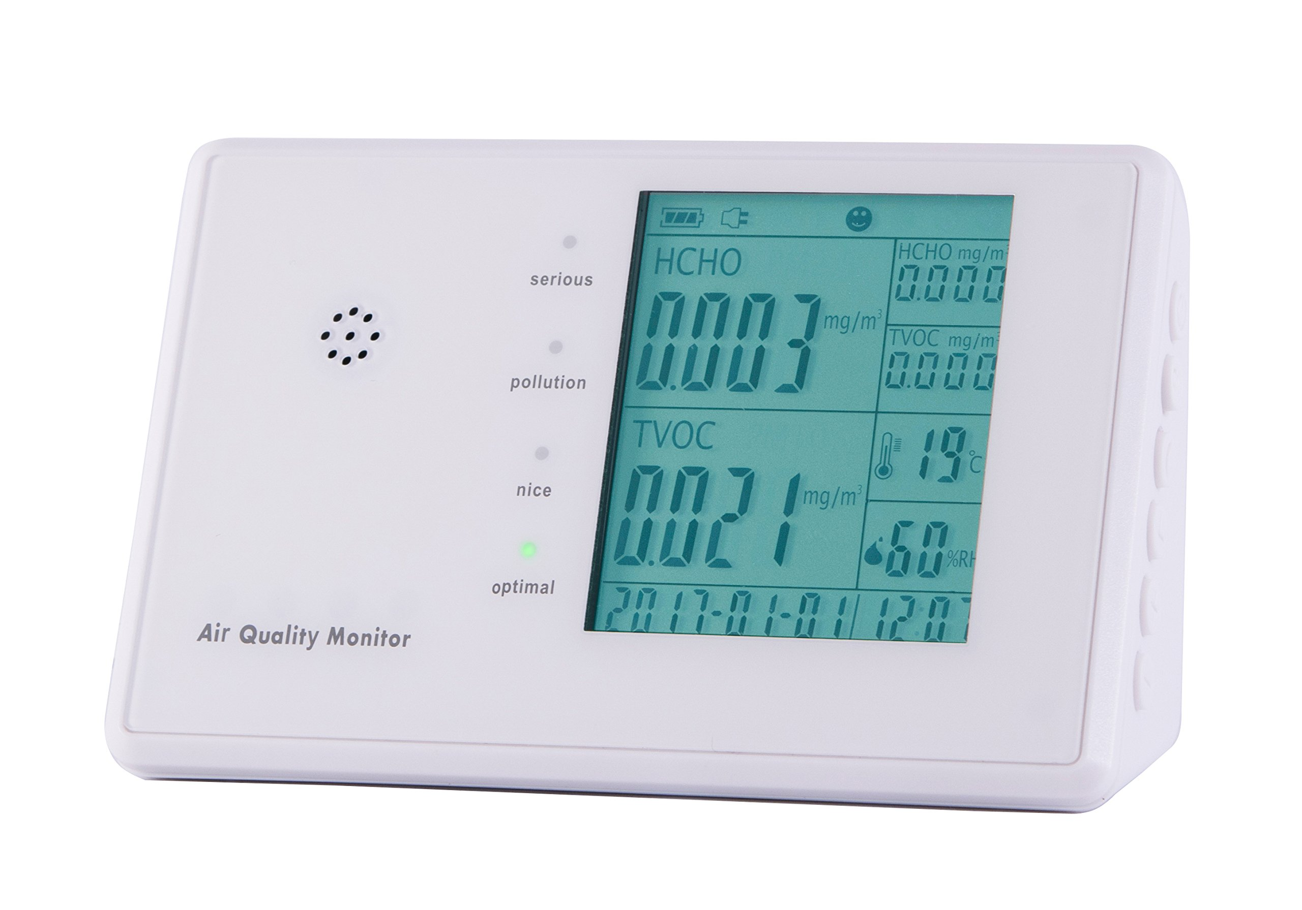6 in 1 Multifunctional Indoor Air Quality Monitor – Track What's in the Air that Surrounds You (with rechargeable battery)