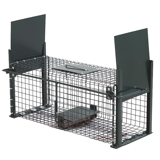 Moorland Safe 5006 Trampa para Animales Vivos - Cepos Animales pequeños 50x18x18cm - 2 Entradas - Alambre