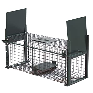 Moorland Safe 5006 Trampa para Animales Vivos - Cepos Todo Tipo de Animales 50x18x18cm - 2 Entradas - Alambre: Amazon.es: Jardín