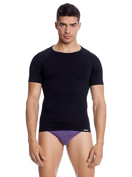 ee77bb11db4d Abanderado Camiseta Interior Abdomen Plano Negro XL: Amazon.es: Ropa ...