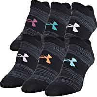Under Armour Women's Essential 2.0 No Show Socks, 6-Pair
