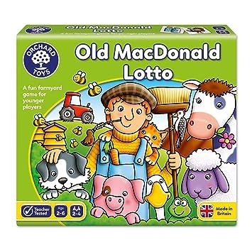 Orchad Toys 71 Old MacDonald Lotto - Juego de lotería para niños con cartas de animales (importado de Reino Unido)