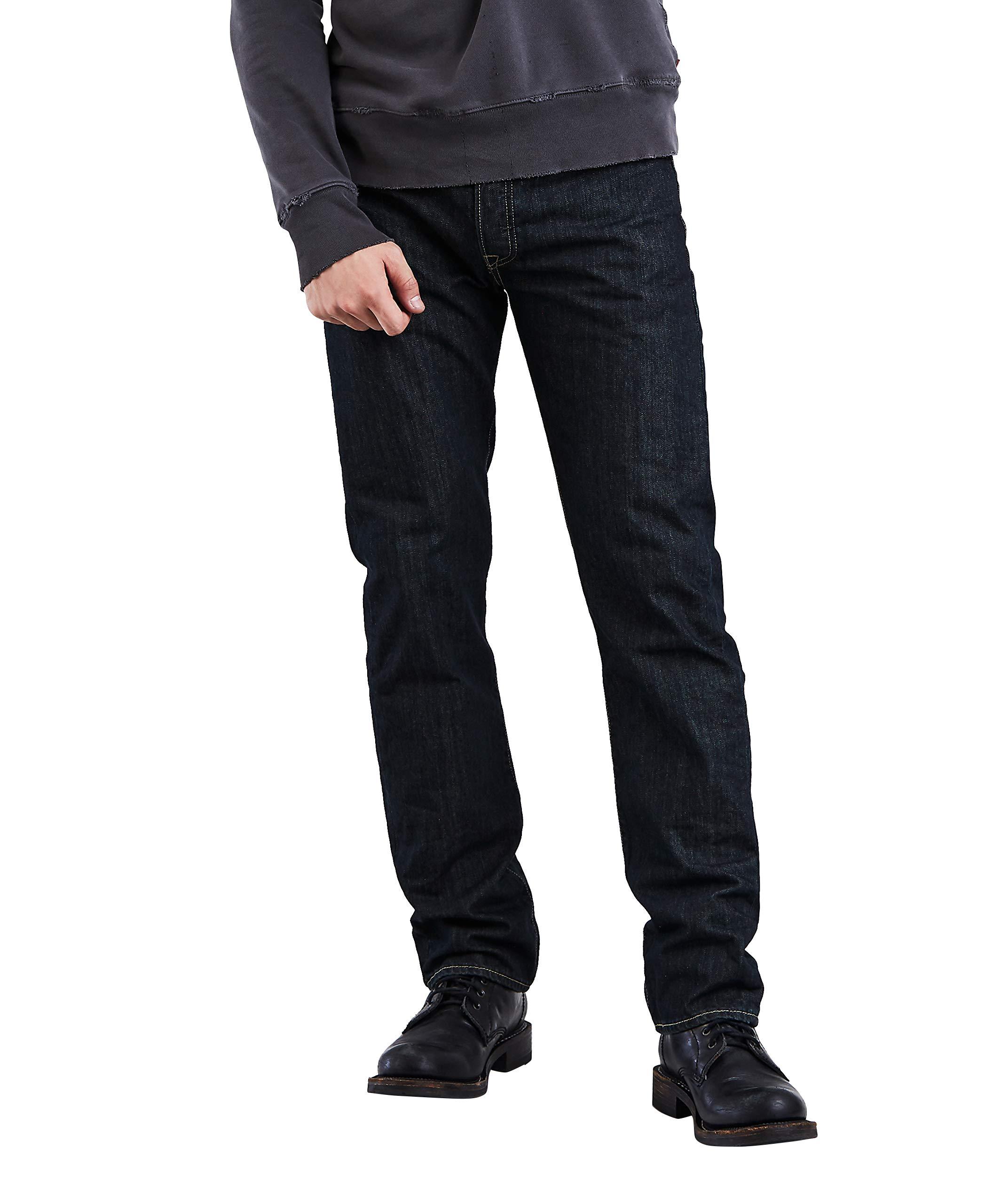 Levi's Men's 501 Original Fit Jean, Clean Rigid, 36x32