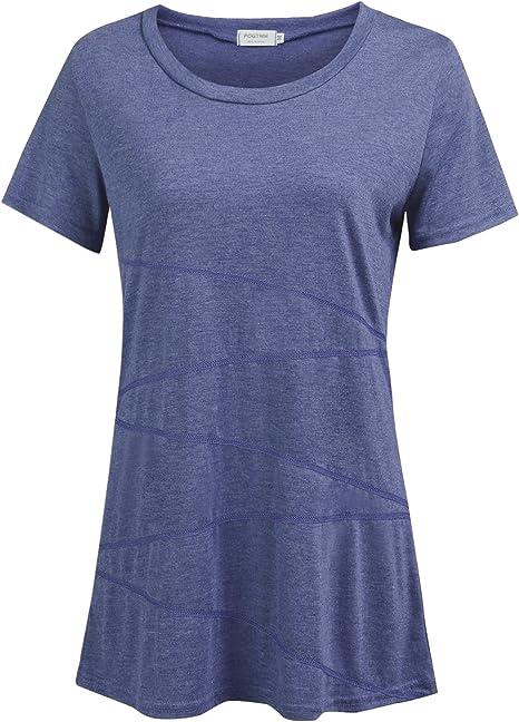 Amazon.com: Blusa de manga corta para mujer, informal ...