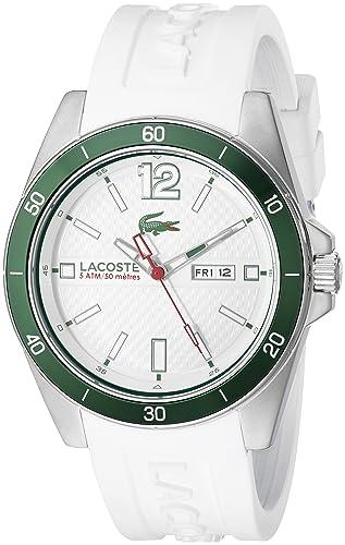 Lacoste Men s 2010802 Seattle Analog Display Japanese Quartz White Watch