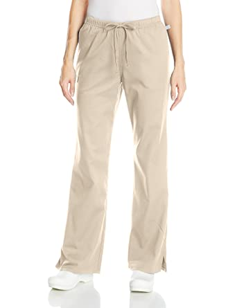 d8779d15c45 Cherokee Women's Ww Flex Mid-Rise Moderate Flare Drawstring Scrub Pant,  Khaki, XX