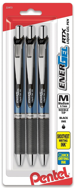 Pentel EnerGel Deluxe Liquid Gel Pen, 0.7mm, Needle Tip