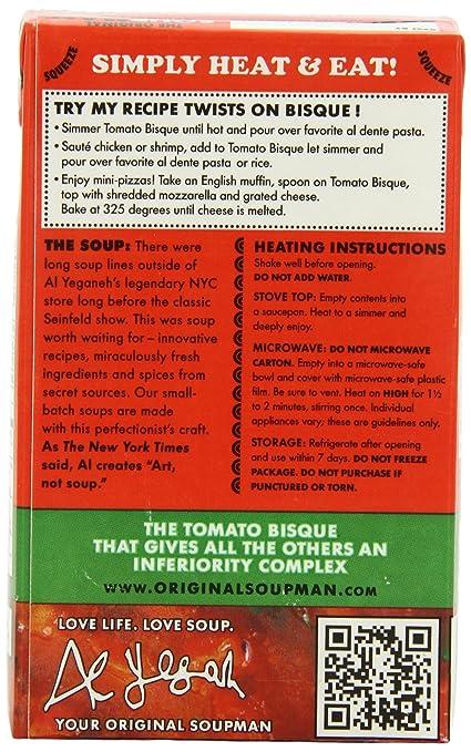 Amazon The Original Soupman Tomato Bisque 173 Ounce