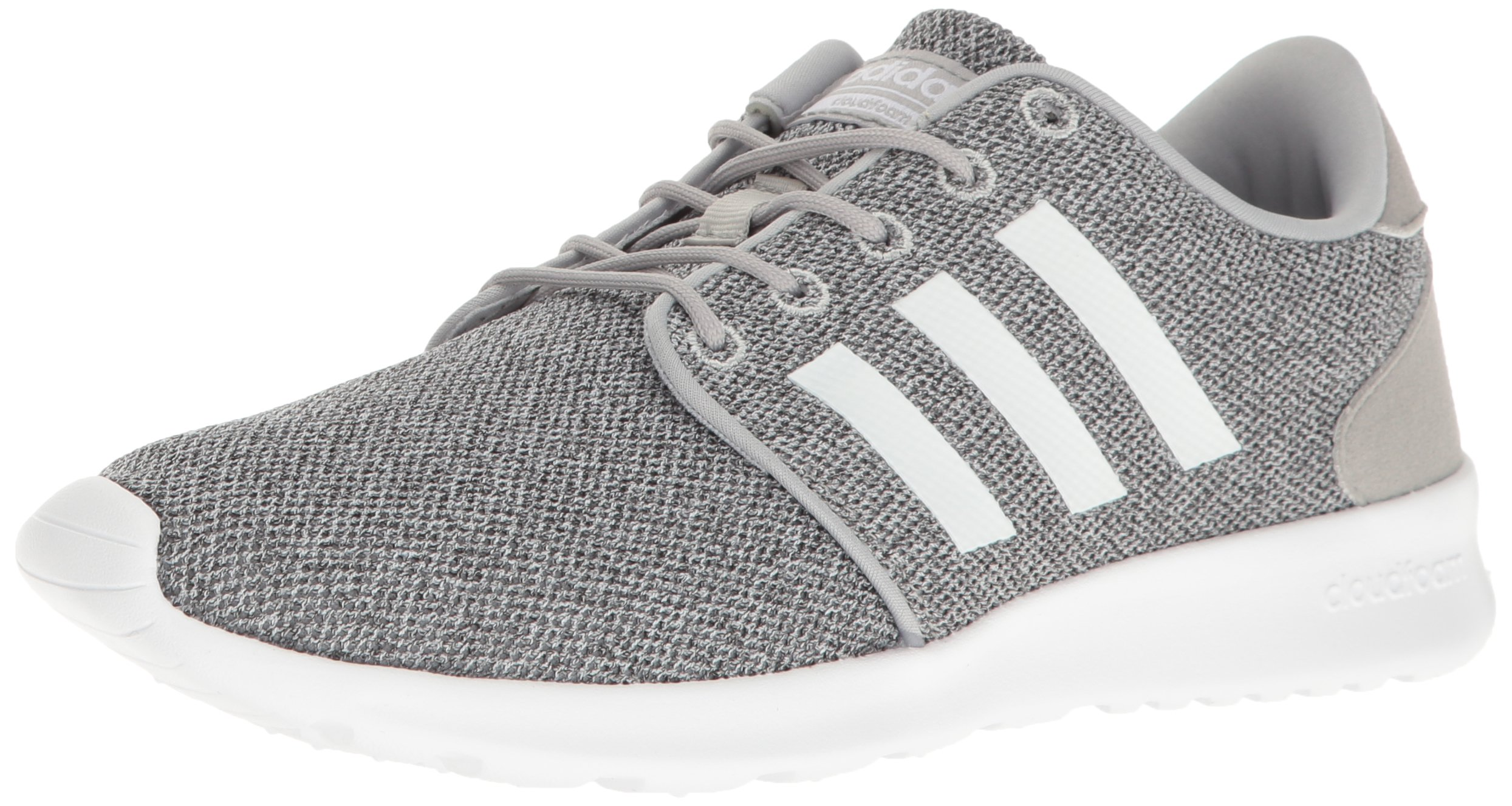 adidas Women's Cloudfoam Qt Racer w Running Shoe, Clear Onix/White/Light Onix, 5 M US