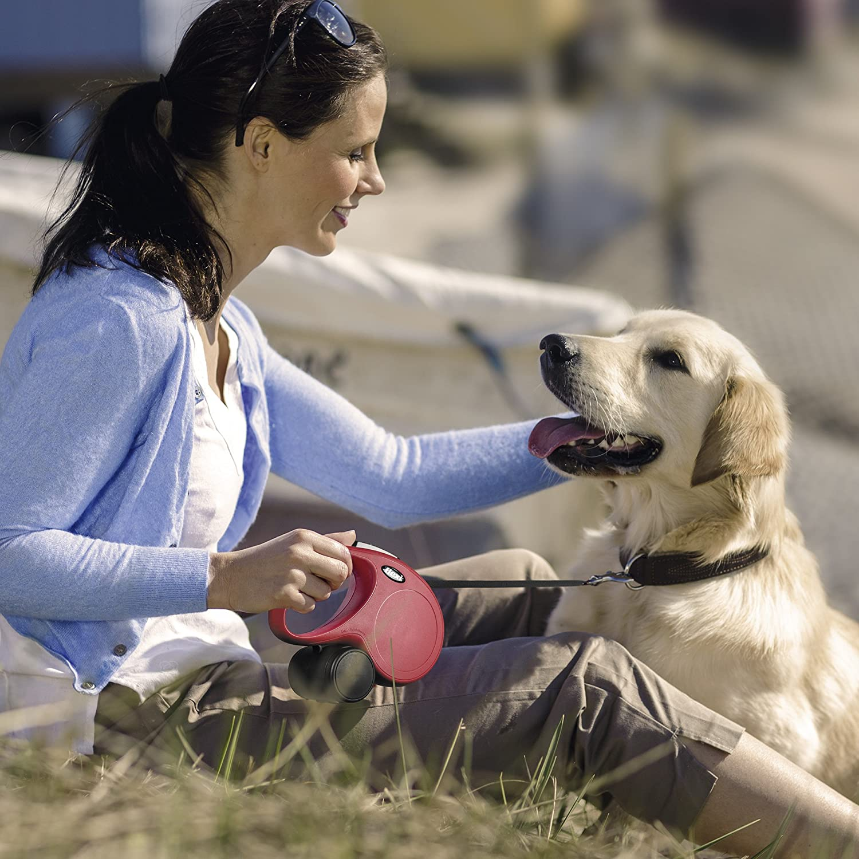 flexi New Classic Small Retractable Dog Leash Cord 26'/8m, Pink CL10C8.210.P