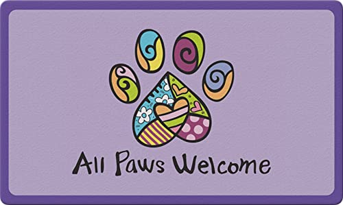 Toland Home Garden 830090 All Paws Welcome 18 x 30 Recycled Mat, USA Produced
