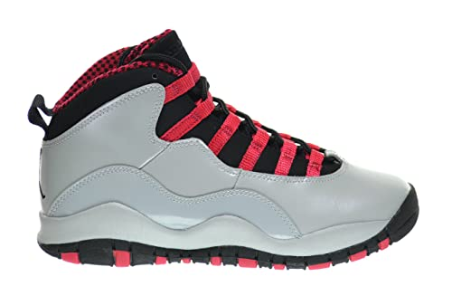 0ca4d581bdb5c6 Girls Air Jordan 10 Retro (GS) Big Kids Basketball Shoes Wolf Grey Black-Legion  Red 487211-009 (4.5 M US)  Amazon.co.uk  Shoes   Bags