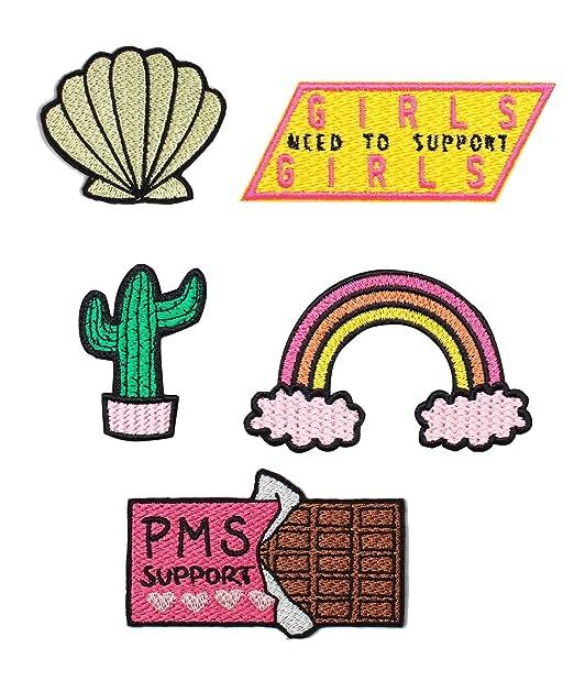 Patch Pack Iron On Badge Gift Tumblr Cute Kawaii Fun Cactus Rainbow