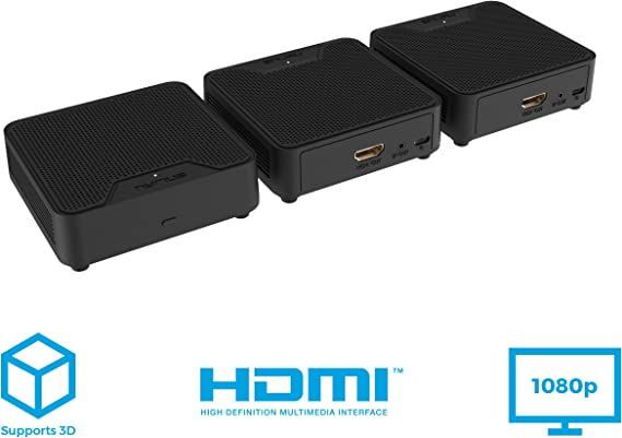 Nyrius WS55 Wireless HDMI Video Transmitter & 2 Receivers for Streaming HD 1080p Video & Digital Audio from A/V Receiver
