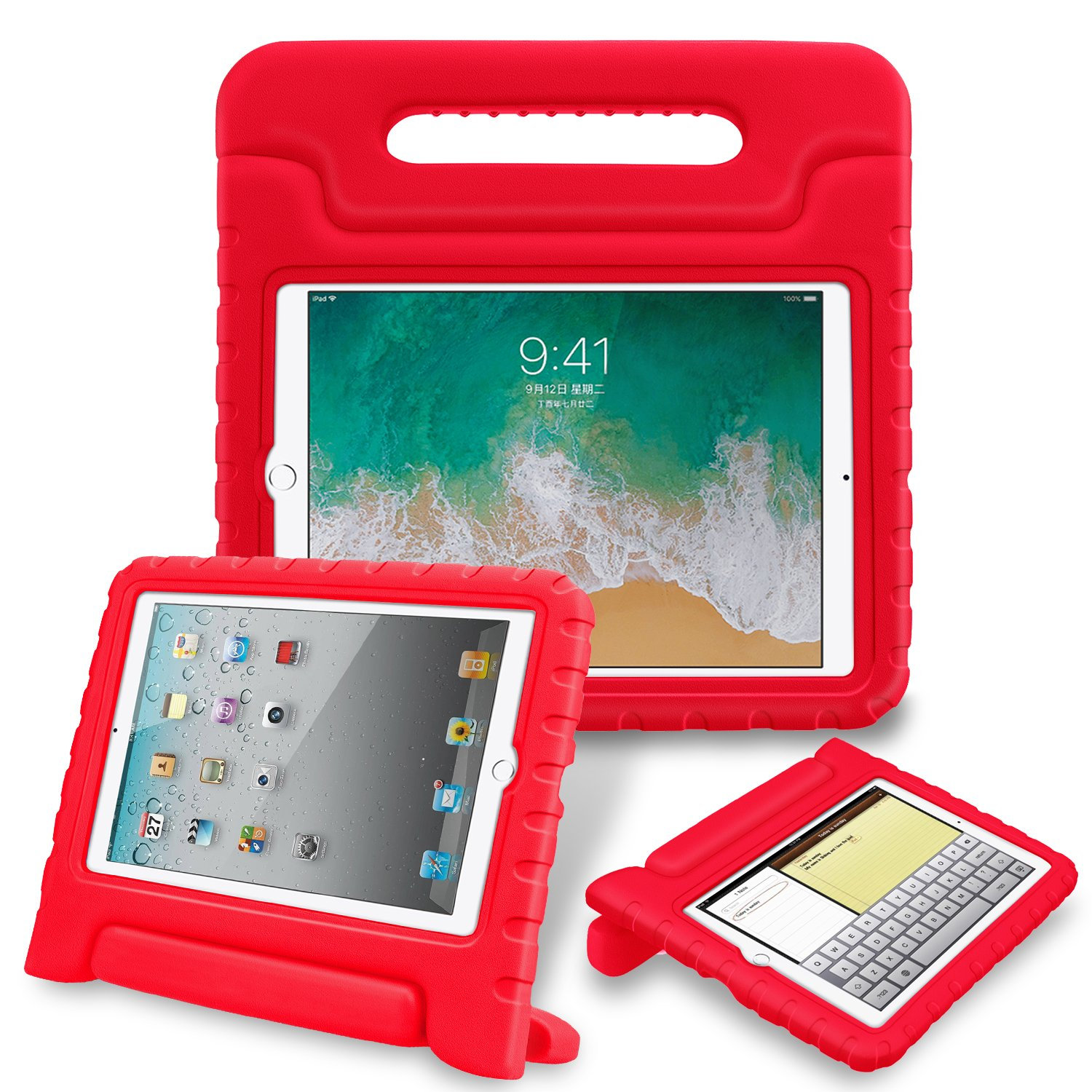 Fintie iPad mini 4 Case - Kiddie Series Light Weight Shock Proof Convertible Handle Stand Cover Kids Friendly for Apple iPad mini 4 (2015 Release), Red EPAB021US