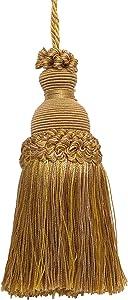 DÉCOPRO Decorative 5 inch Key Tassel, Antique Gold Imperial II Collecion Style# IKTJ Color: Rustic Gold - 4975