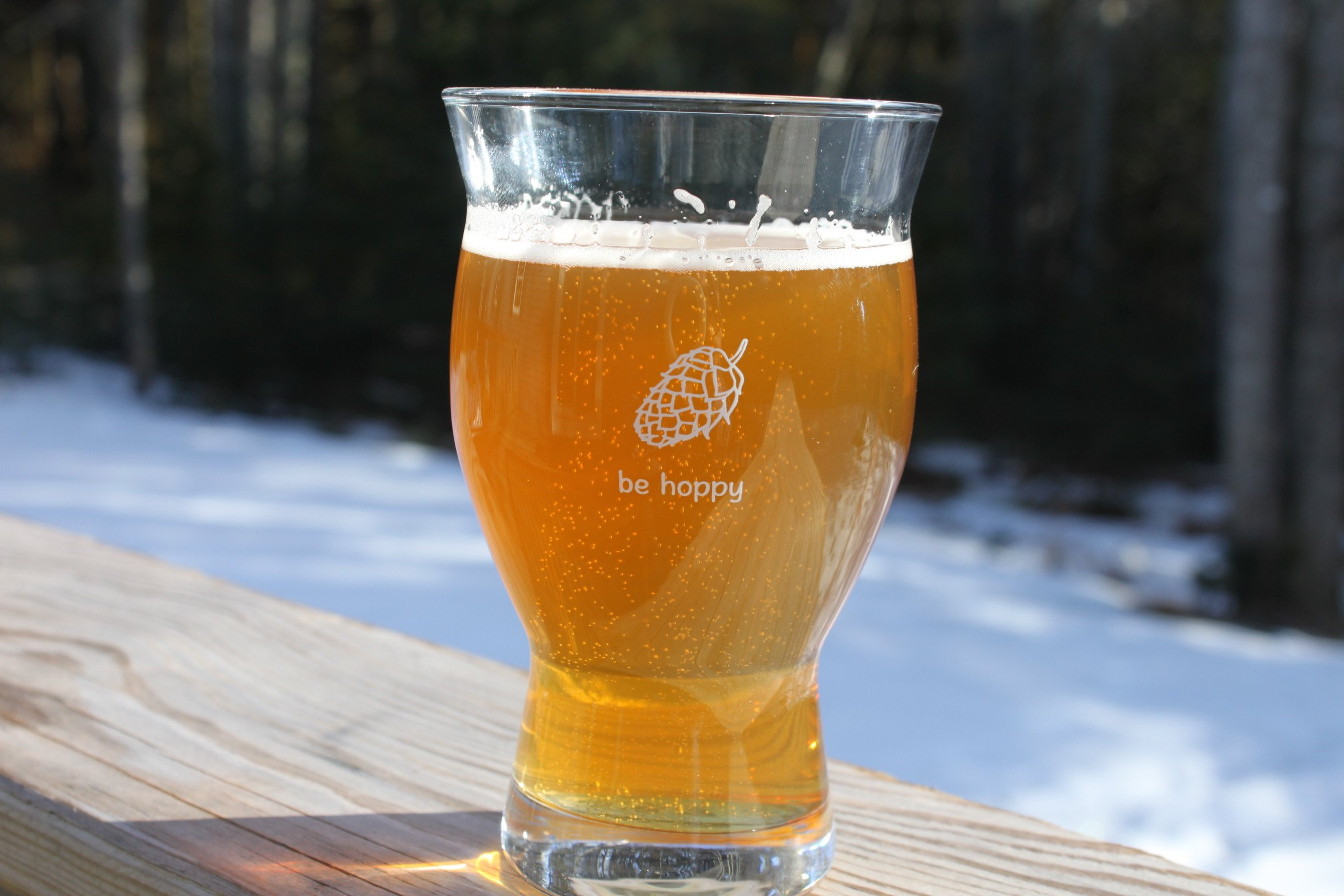Ultimate Pint - Perfect Pint Glass to Explode Flavors and Maximize Beer Enjoyment - Exclusive Nucleated Hop Leaf Over 100 Points of Nucleation by Cheers All (Image #3)