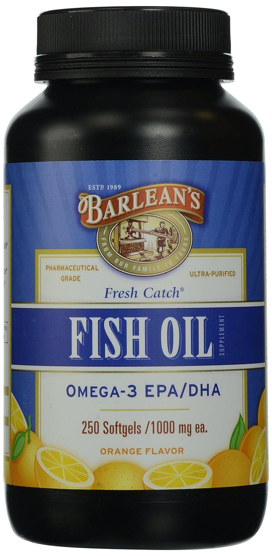 Barlean's Organic Oils Fresh Catch Fish Oil, Omega-3, Orange Flavor, 250-Softgels each