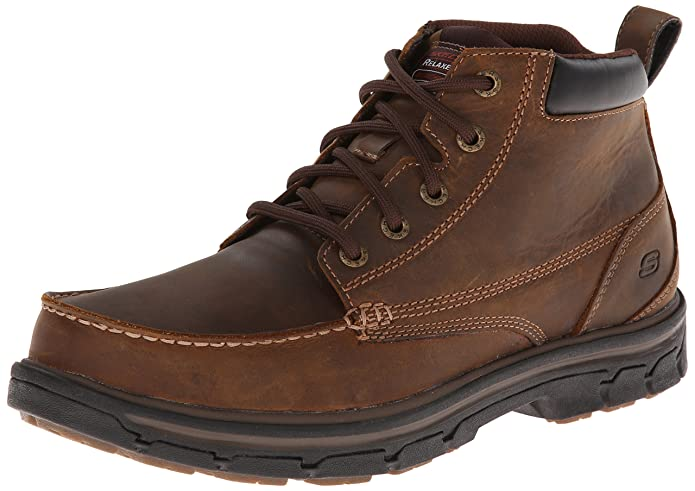Skechers USA Men's Segment-Barillo Chelsea Boot,Dark Brown,9 M US