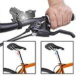 Wakeman Juego de Luces LED para Bicicleta al Aire última intervensión, Recargables por USB y 2 Luces traseras...