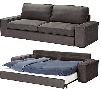 Slipcover For Ikea Kivik 3 Seat Sofa Bed Slipcover, Tullinge Gray Brown  Sleeper Cover (