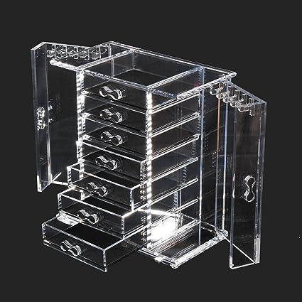 Amazoncom HomCom Deluxe 7drawer Clear Acrylic Jewelry Organizer
