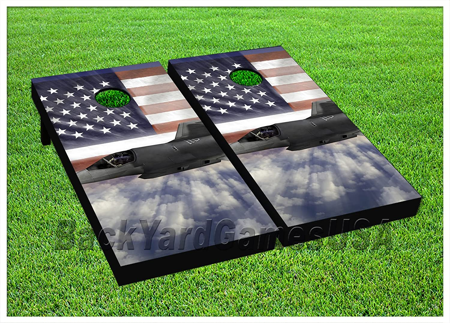 USA Airforce Cornhole Beanbag Toss Game WバッグゲームボードUnited Statesセット583   B071J3N4YX